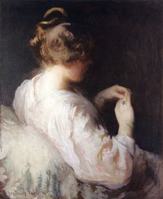 The Athenaeum - The Turquoise Ring (also known as The Opal Ring) Edmund Tarbell - 1894 Private collection Painting - oil on canvas Height: cm in. American Impressionism, National Gallery Of Art, Singer Sargent, Expositions, Old Master, Museum Of Fine Arts, New Hampshire, American Artists, Massachusetts