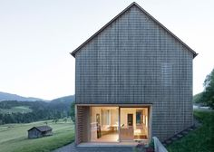 Wooden residence located in Austria's picturesque Bregenz Forest.