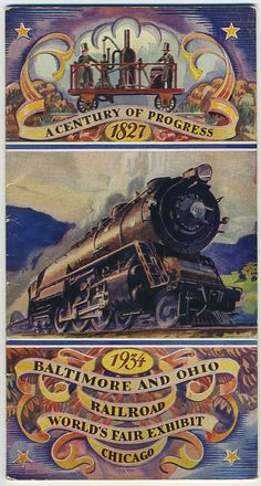 Century of progress. 1827-1934. World Fair Exhibit. Chicago.