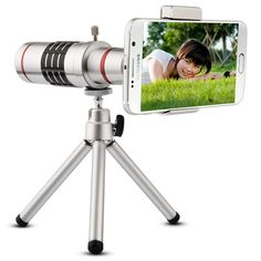 Free Shipping Universal Clip On 18X Telephoto Lens Mobile Phone Optical Zoom Telescope Camera For iPhone Sumgung HTC Asus JT11