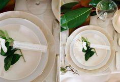Mesa Branca e verde/ tablescape decor