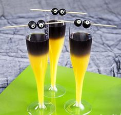 Spooky Shocktails - Make cocktails that look like they've been created in a mad scientist's lab - Click pic for recipe - #adult #halloween #party #ideas