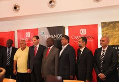 Conglomeration of 2 giants in their respective fields at Crane Bank's Headquarters in Kampala