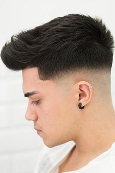 Types Of Bald Fade To Experiment With Cool Hairstyles For Men, Hairstyles Haircuts, Haircuts For Men, Haircut Men, Guys Ear Piercings, Types Of Fade Haircut, High Fade Haircut, Short Hair Cuts, Short Hair Styles