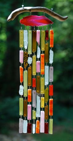 Sarah Perry/sarahsnature - St. Johns' Sunset windchime - recycled Beach Glass