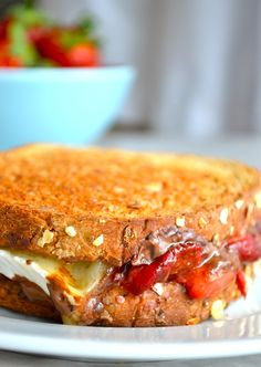 Roasted Strawberry & Chocolate Brie Grilled Cheese: this is easily the healthiest dessert I've ever eaten and it tastes so amazing, I've wanted another one ever since I tried it.