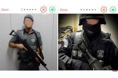 PMs paulistas usam fardas e armas no Tinder procurando parceiras (!) - Blue Bus