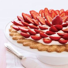 Fresh Strawberry-Cream Cheese Tart