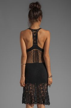 Lisa Maree Love That Way Crochet Cover Up Dress in Black