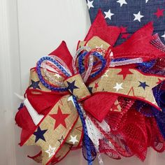 Patriotic Wreath; Uncle Sam Hat; gift ideas; memorial day wreath; deco mesh wreath; summer wreath; red white and blue; mom gift idea; independence day decoration; military retirement gift; patriotic decorations for home; country patriotic decor; 4th of july wreath for front door, red white and blue wreath deco mesh, 4th of july decorations; fourth of july decorations porch, military wife life, patriotic home decor #patriotic #military #fourthofjuly #4thofjuly #independenceday #wreaths Patriotic Wreath, Patriotic Decorations, 4th Of July Wreath, Military Retirement, Military Wife, Barn Door Decor, Deployment Gifts, Etsy Handmade, Handmade Gifts