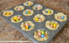 Rice Krispie Treat Bird's Nest {with Reese's Eggs}