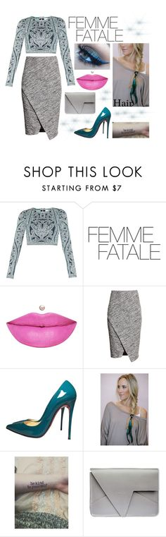 """Femme Fatale"" by immortal1fan ❤ liked on Polyvore featuring Hervé Léger, Anastasia Beverly Hills, H&M and Christian Louboutin"