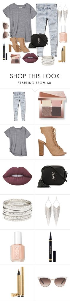 """""""Hookah Lounge"""" by naomirahj ❤ liked on Polyvore featuring Abercrombie & Fitch, Bobbi Brown Cosmetics, Lime Crime, Yves Saint Laurent, Charlotte Russe, Jules Smith, Essie and Gucci"""