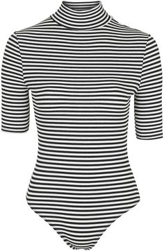 Womens black and white stripe body from Topshop - £18 at ClothingByColour.com