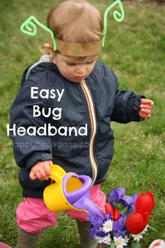 simple bug headband. How cute to make while studying insects with Apologia Flying Creatures. #homeschool science, #preschool
