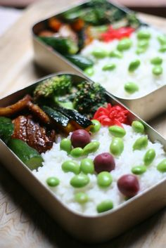 お弁当いろいろ 春 : Happy Days Japanese Lunch Box, Japanese Food, Bento Food, Bento Recipes, Food Presentation, Beverages, Dining, Cooking, Happy
