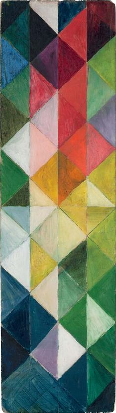 'Farbige Karos' (Colored squares) by August Macke, 1913 - This was from period when he was under the influence of Delauney.