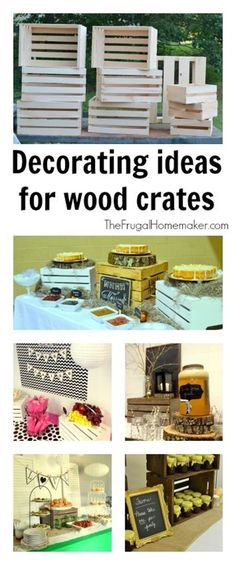 Decorating ideas for wood crates