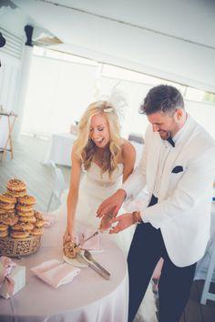 Doughnut Cake Cutting #WildDunesWeddings wilddunesweddings.com