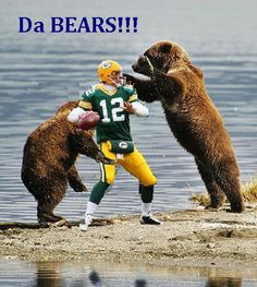 Bounty for Da Bears. Bears Football, Bears Packers, Football Jokes, Cowboys Football, Manning Football, Football Team, Chicago Bears Funny, Chicago Bears Pictures, Football Pictures
