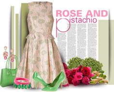 """Rose and Pistachio"" by bb60477 ❤ liked on Polyvore"