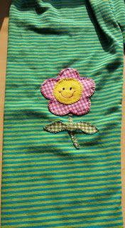 Sweet handmade things - patchwork: Leggings floreta amb patchwork / leggings flor en ...