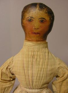 "OIL PAINTED CLOTH DOLL, 23"". Head, arms, torso and : Lot 95"