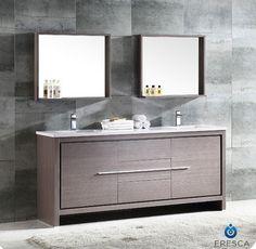 "Bathroom Vanities Toronto bliss 72"" walnut wall mount modern bathroom vanity, double sink"