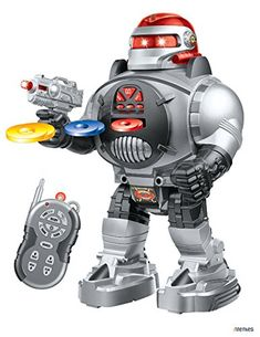 Amazon.com: Memtes Remote Control Robot Toy, Shoots Soft Rubber Discs, Flashing Lights and Sound, Walks, Talks, and Dances: Toys & Games Star Wars Gifts, Flashlight, Walks, Robot, Darth Vader, Lights, Amazon, Toys, Activity Toys