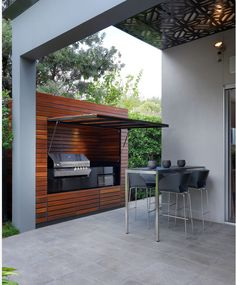 Fantastic Modern Patio Grill Design - Best Patio Design Ideas Gallery From . Outdoor Rooms, Outdoor Living, Outdoor Bathrooms, Outdoor Tiles, Outdoor Patios, Outdoor Sheds, Outdoor Pergola, Diy Pergola, Brighton Houses