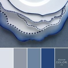 blue and white plates Beach House Colors, Chameleon Color, House Color Schemes, Painting Wallpaper, Design Seeds, Colour Board, World Of Color, Color Swatches, Color Pallets
