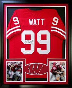 J.J. Watt Framed Wisconsin Jersey Signed JSA COA Autographed Houston Texans JJ Mister Mancave http://www.amazon.com/dp/B00WIDEEGI/ref=cm_sw_r_pi_dp_u7-rwb0M2C3FK