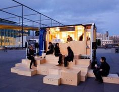 HASSELL created their version of a Yatai – a Japanese food truck – for the 2011 State of Design Festival and its 'design that moves' theme. pop up seating