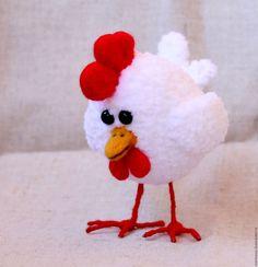 Купить Петя петушок - золотой гребешок - белый, петух, петушок, птица, птицы, птичка, курица