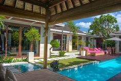 Bali Villa Photography - view from the pool bale