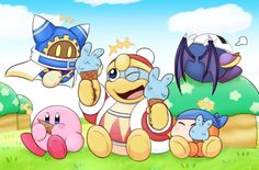I like how Meta Knight is turned around lol