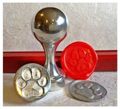 Paw Design Wax Seal Stamps by LetterSeals on Etsy, $12.00