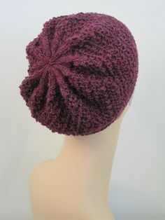 Balls to the Walls Knits: Oopsie Daisy Diagonal Hat