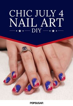 This chic take on red, white, and blue nail art is so stunning, you'll want to rock it all Summer long. Even better? This DIY is shockingly easy!