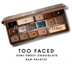Too Faced revient avec la Semi-Sweet Chocolate Bar Palette (Chocolate Bar 2)