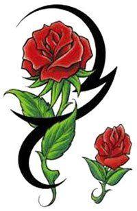 Tatoo Rose, Tribal Rose Tattoos, Flower Tattoos, Small Tattoos, Roots Tattoo, Banana Art, Infinity Tattoos, Tattoo Outline, Skulls And Roses