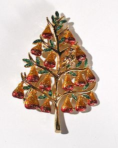 Partridge in a Pear Tree Brooch +