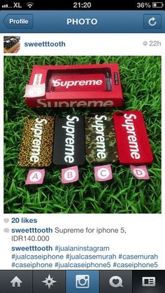 Supreme for iphone 5, IDR140.000