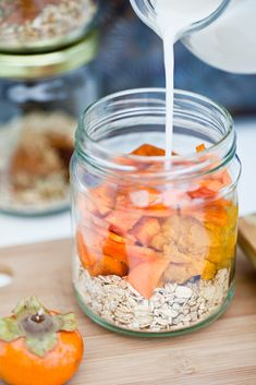 Pumpkin Persimmon Overnight Oats | 19 Ridiculously Easy Mugs Of Overnight Oats