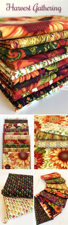 Harvest Gathering by Color Principle for Henry Glass is a festive collection of Autumn fabric collection available at Shabby Fabrics!