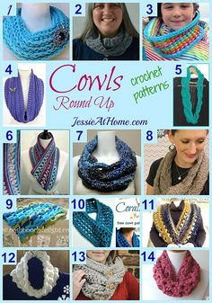 #Crochet Cowls Pattern Round Up from Jessie At Home