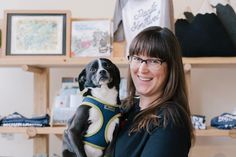 """This is shop dog Moana and her awesome human Liz.  I am thrilled to be photographing and interview local businesses for @experiencetacoma My first installment of """"Take Five"""" is up featuring @stocklistgoods  Check it out!  http://ift.tt/2linbpx ("""