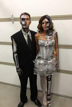 karnevalskostüme halloween verkleidung paare cool