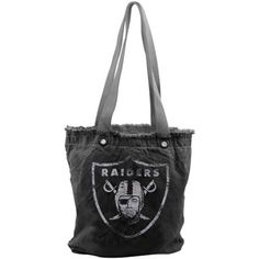 Oakland Raiders Ladies Vintage Shopper Bag - Black #fanatics