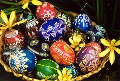 basket of Lithuanian Easter eggs.